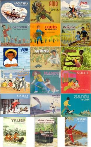 Ill. 6. Planche des couvertures de la collection «Les Enfants de la Terre»